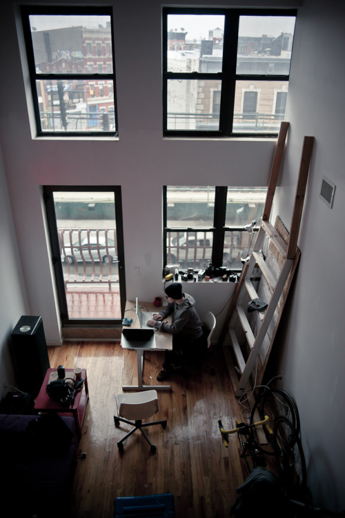 My Brooklyn workspace.  Photo by my Flemming Laursen - My favorite DIT in New York