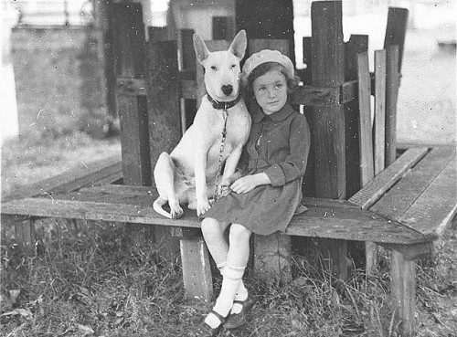 Margaret Shaffhauser with bull terrier dog at the Canine Association Show, 3 Nov 1934 / by Ted Hood by State Library of New South Wales collection on Flickr.Look at the photo. Consider what has has just happened here, or what is about to happen here. Who has been here? Who will come here and and what will they do? What kinds of interactions can you imagine? Write one leaf about these or other things that occur to you upon looking at the picture. Do not allow yourself to be limited by what you see. Go.| Write One Leaf + about + ask + random + facebook + twitter | sponsors + You Are a Dog [ Kindle | Google | iBookstore ]