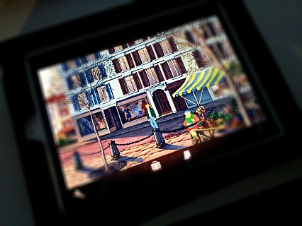 Broken sword on ipad