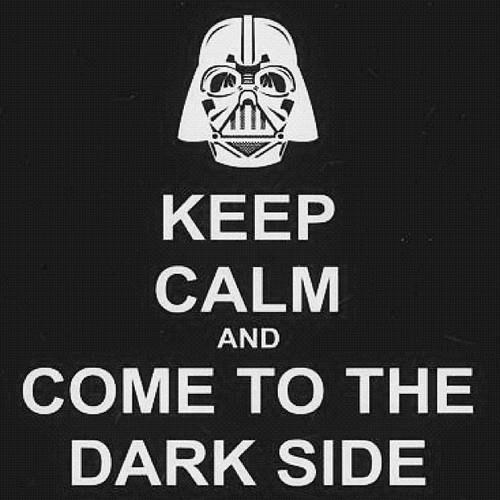 "amor-trans-distantia:  ""You don't know the power of the Darkside! I must obey my master"" - Darth Vader"