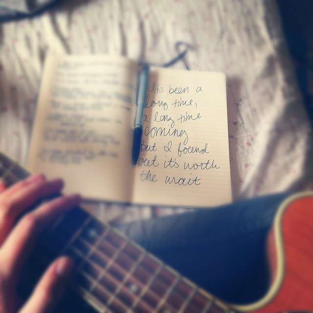 Wrote a song this afternoon :) on Flickr.Via Flickr: One that's been stirring inside of me, waiting to come out for quite some time now. Among some of the best feelings, there's clarity. Hello again, dear old friend. <3
