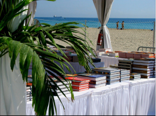Our bookstore at the South Beach Wine & Food Festival