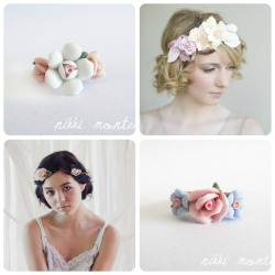 Inspiration: Flower Crowns The inspiration behind my 'Flower Crown' Ring Collection were those beautiful flower crown headpieces made out of luxurious chiffon florals, vintage lace and other romantic embellishments, such as these gorgeous handmade crowns by Etsy artisan Myra Callan from Twigs&Honey. I love her work! Photo: Models wearing flower crowns by Twigs&Honey Rings by Nikki Montenegro See the complete inspiration board on my Pinterest ♥