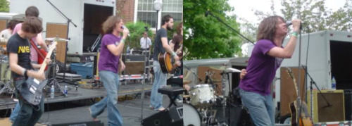 May 12, 2004, Fitchburg State College, the first time I saw The Format. I was thinking about this today after hearing that fun.'s Some Nights sold 70,000 copies last week, debuting at #3 on the Billboard 200 behind only Adele (who now has the longest running album at #1 since Purple Rain in 1984-85) and Whitney Houston's Greatest Hits. Nate's come a long way, and is still making great music. I couldn't be happier that they have the #6 song in the country and #3 record in the country.