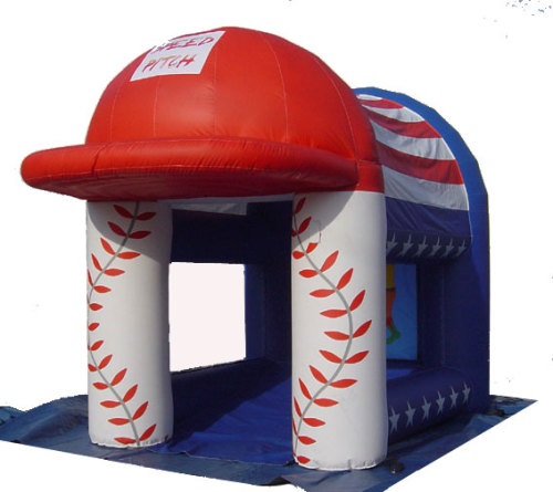 Inflatable baseball speed pitch
