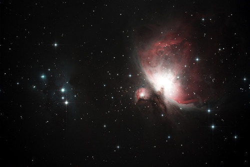 M42 Orion and NGC 1977 Running Man Nebula by Steve Carmichael on Flickr.