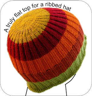 A Truly Flat Top for a Ribbed Hat (click the pic for info)