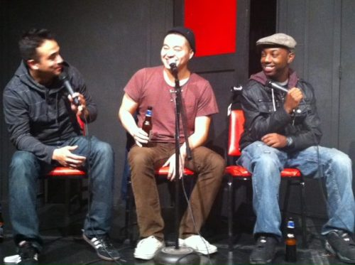 bryangotjokes:  Nick Aragon, me, and Chazz Hawkins at the Sacramento Comedy Spot recording the first episode of The Top 10 List Podcast with Brian Crall. You can listen to the podcast by clicking HERE.