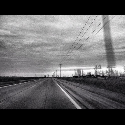 Black and White Landscape. #car #blackandwhite #road #drive (Taken with instagram)