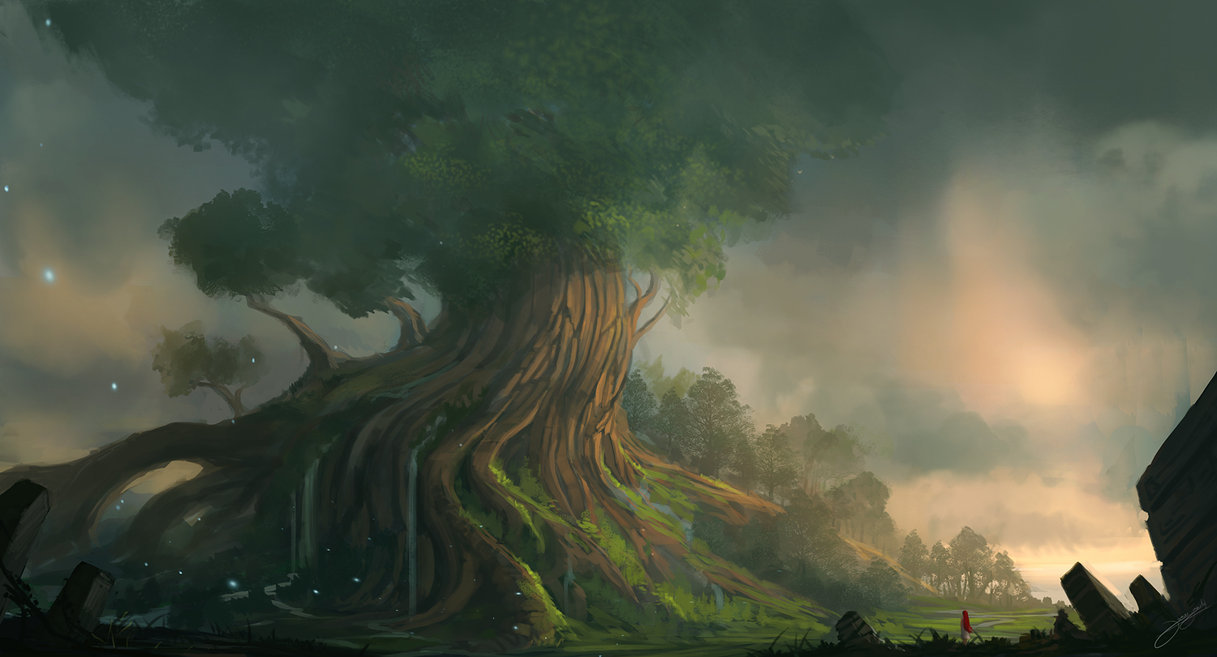 Wallpaper Yggdrasil by Blinck Resolucion: 1500*810