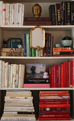 clubmonaco:   Vintage Books  My bookshelves are bursting but I can't resist buying more books — especially old vintage fashion and design books. -Habitually Chic