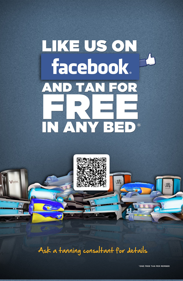 Did you know this deal?  Click the pic to get your FREE tan! We're closing in on 5,000 fans, Thanks for the support everyone!