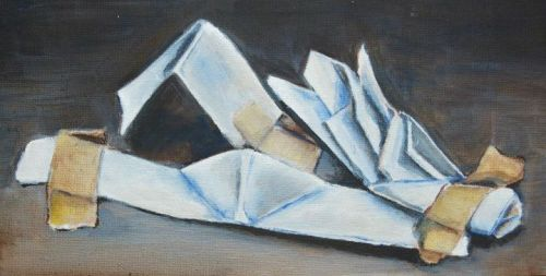 oil painting of some paper
