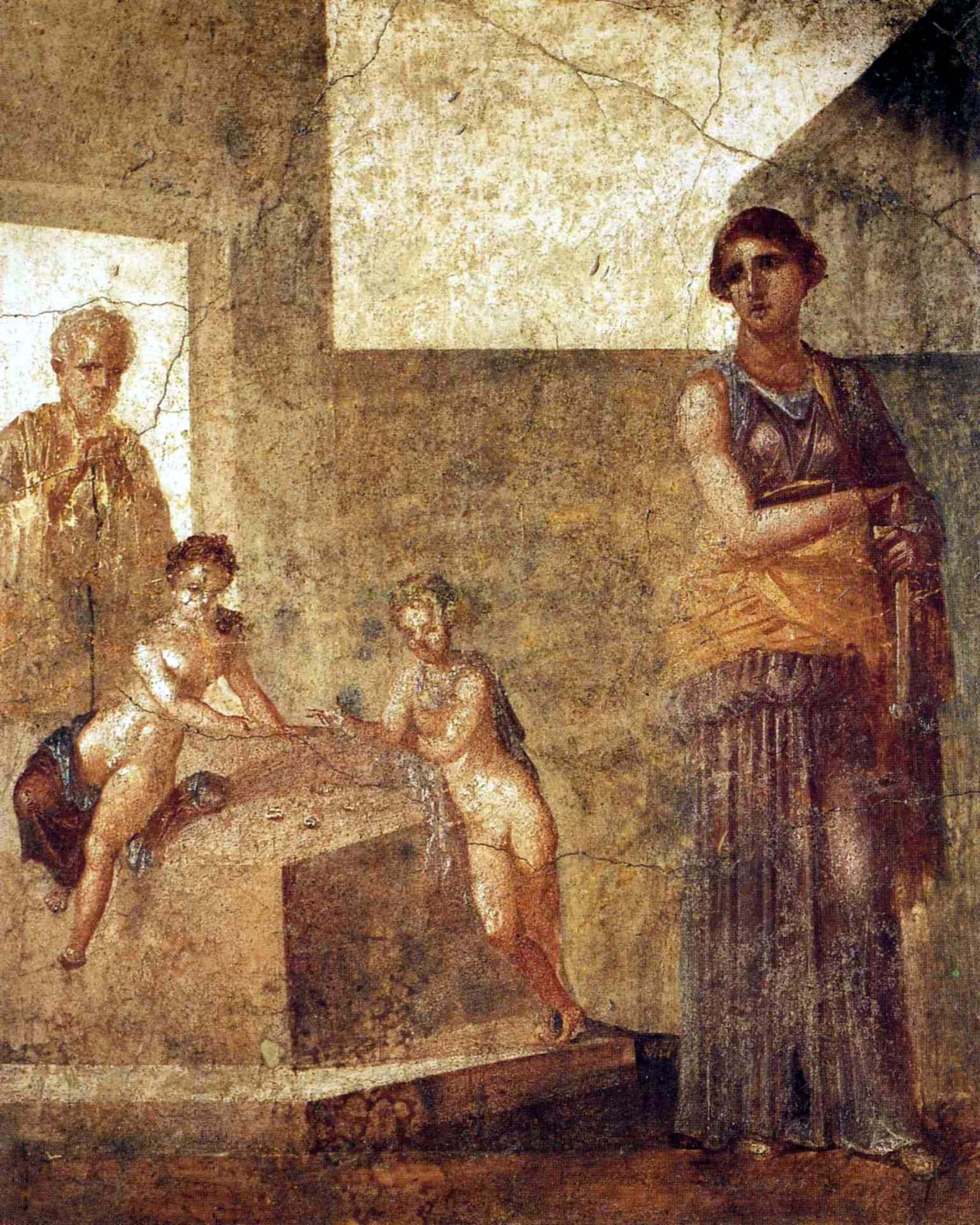 triglifos-y-metopas:  Medea and her children House of the Dioscuri Pompeii, Italy [Museo Archeologico Nazionale di Napoli]