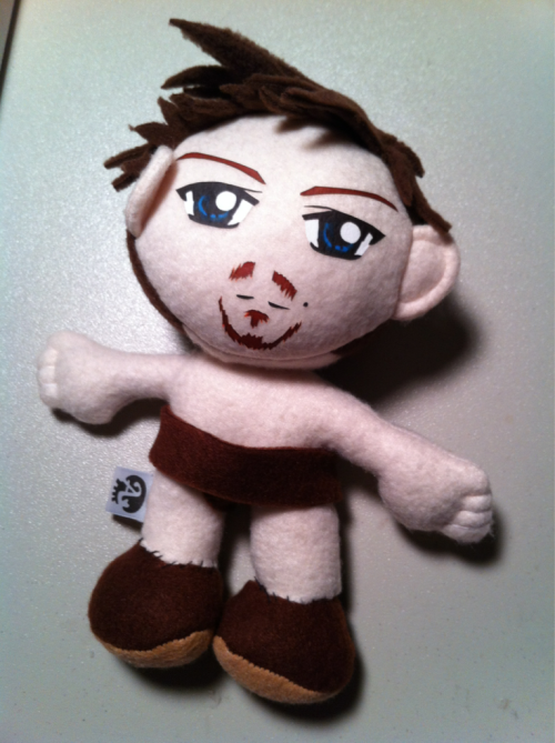 "Daryl Dixon, Redneck Gladiator (The Walking Dead)  8"" Plush base finished, now to add details, clothing, and accessories!"