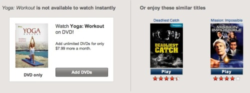 Yes Netflix, that's how I feel about yoga too.