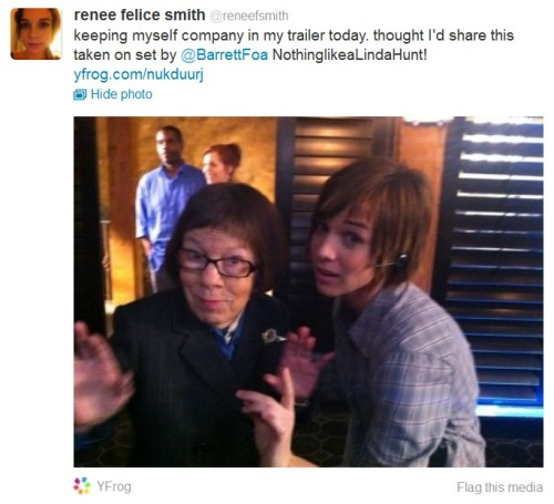 Renee Felice Smith and Linda Hunt.
