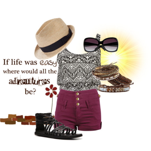 Adventure! by forever-inspired featuring a fedora hat
