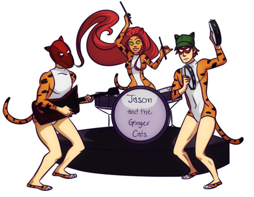 fuckyeastarfire:  Jason and the Pussy Ginger Cats