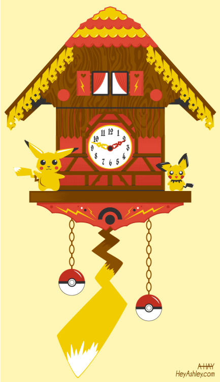 kannaya:  Pika Pika Clock by Ashley Hay Pikachu decided it was time for a home upgrade.