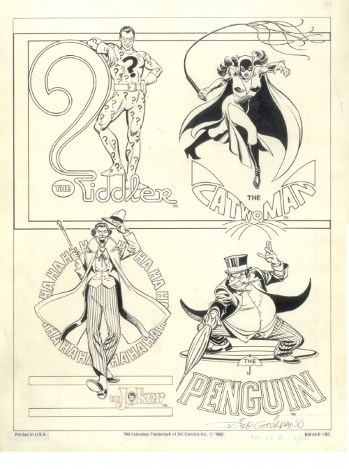 DC Comics style guide circa 1982: classic Batman villains by Jose Luis Garcia-Lopez.