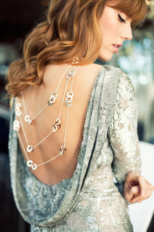 fromme-toyou:  A woman's back says so much… Have a beautiful weekend! A moment with Tiffany 1837 Collection in RUBEDO metal