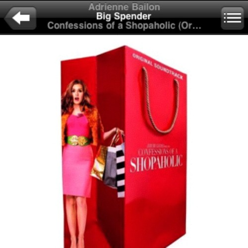 #nowplaying #BigSpender #AdrienneBailon #ConfessionOfAShopaholic (Taken with instagram)