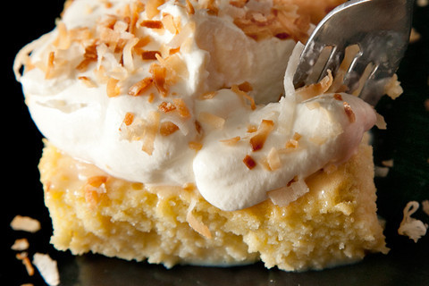 (via Coconut Tres Leches Cake Recipe - CHOW)