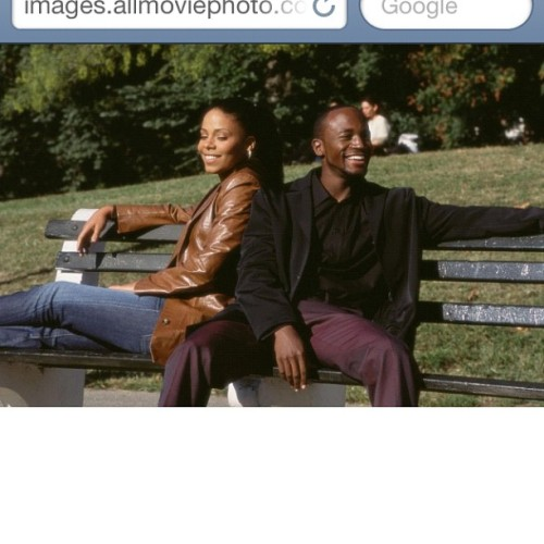 Black History Challenge Day 19 Love: Sidney Shaw and Dre Ellis in Brown Sugar is a perfect example of love. Best Friends find love through Hip Hop. No wonder it's one of my favorite movies. #blkhistorychallenge #day19 (Taken with instagram)