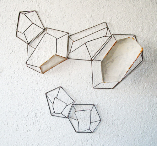 Mega art crush on Sarah West's wire installations via her shop