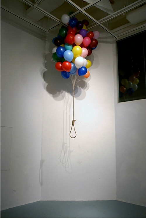 naturae:  Balloon, Rope   what a way to go…