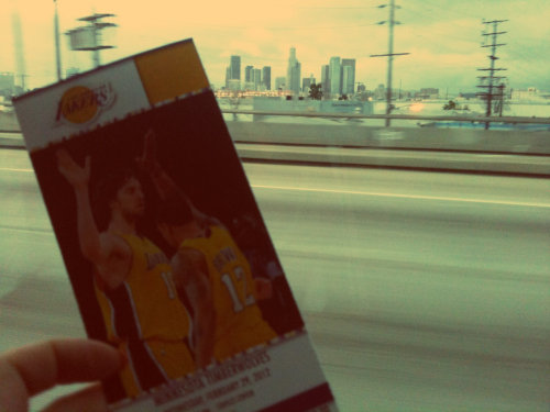 LA bound for the Lakers game.