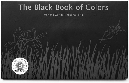 soldieronpond:  The Black Book of Colors by Menena Cottin I stumbled across this while looking for a book for my cousin's new baby. I was so intrigued by the whole idea. On each left page there was words written in braille and then again in white text. It was the description of colors, according to how a blind child would experience. On the right there were raised etchings of what each page was describing. It's so beautiful.One page in particular that really caught my attention was the one describing the color red. It talked about how red is how it feels to bite into a ripe strawberry, or the stinging on your knee after you fall down.  Blue was the feeling of sunshine on your face.  It's just so astounding that someone managed this, as the idea of how to describe a color to someone who has no reference has always fascinated and baffled me. Picture source here Available to purchase here  Oh my god, HOW NEAT :o