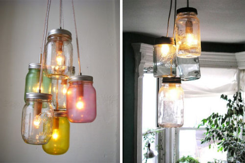 Mason Jar Lights!! | (via 2 Modern Blog)