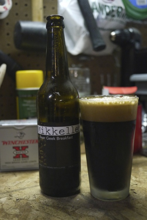 DAY 29 : Mikkeller Beer Geek Breakfast Imperial Stout : Copenhagen, Denmark 7.5% ABV OK, so the next 11 months are going to be spent collecting beers for an even better #feBREWary 2013.