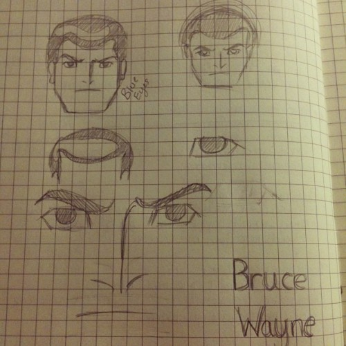 Starting on my Bruce Wayne icon! (Taken with instagram)