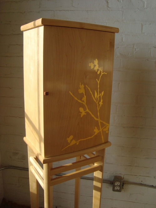 Blossom Cabinet, 2008. Maple cabinet with 23 karat gold detail.