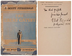 $50,000 signed copy of The Great Gatsby.