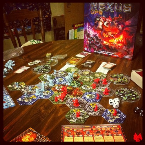 Learning Nexus Ops #boardgame #gamenight  (Taken with instagram)