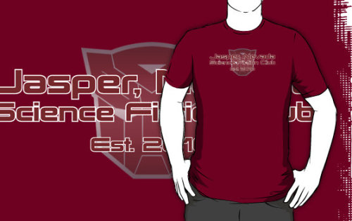 """Transformers Prime Jasper Nevada Science Fiction Club"" T-Shirts & Hoodies by Christopher Bunye 