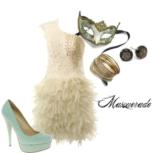 McKenna Masquerade by forever-inspired featuring platform wedges