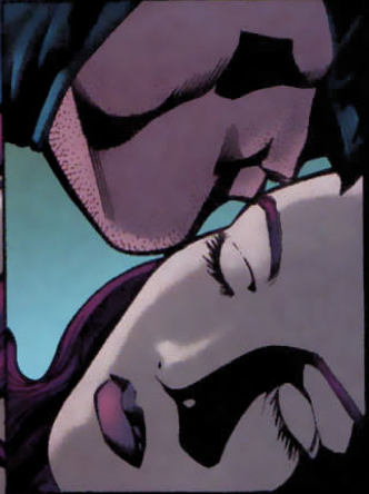 tissue2:  from Birds of Prey V1 #84 bruce giving babs a kiss before she goes into surgery. please excuse me while my heart melts.     HA!  This is a favorite moment of mine, Bruce sneaking in to give Barbara a kiss when she's going to have surgery that may kill her (he also anonymously paid for the best possible care). The weird thing is, I had to get approval for this…for Batman to kiss someone he loved on the forehead, while in costume.  I got the impression it made someone uncomfortable for Batman to do something tender while wearing the cowl. Weird, our priorities are very weird, sometimes!