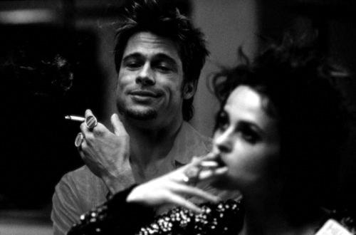brad pitt & helena bonham carter | fight club, 1999.