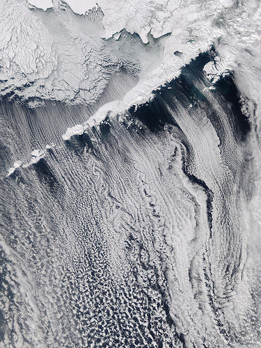 44oz:  Clouds off the Aleutian Islands (by NASA Goddard Photo and Video)