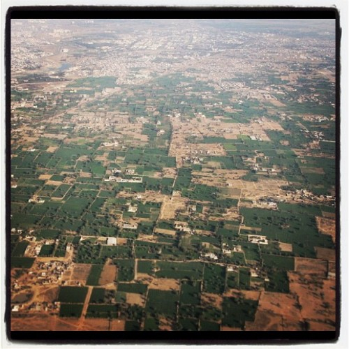 The view above Jaipur's countryside on the way to Mumbai. #Jaipur #Rajasthan #India #flight #countryside #greenery #view #perspective #birdseye #flight #gorgeous #pretty     (Taken with instagram)
