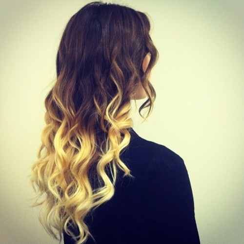 Ombre at its best. The latest hair trend that is here to last - I hope so. Super cute & easy to maintain