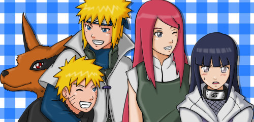 Hinata and Uzumaki Family by ~Graxile