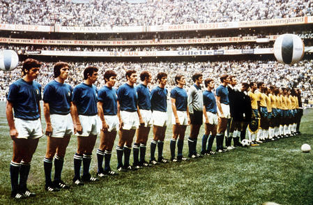The 1970 World Cup Final between Brazil and Italy