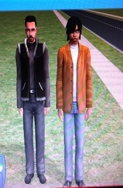 made bret and jemaine on the sims!! :DD lol i have no life. ENJOY