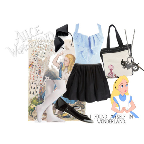 Alice in Wonderland by forever-inspired featuring a pleated skirt